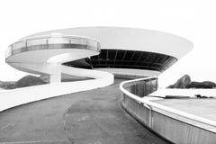 Niteroi Eigentijds Art Museum, Rio de Janeiro, Brazilië. Stock Afbeeldingen