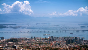 Niteroi most w Rio De Janeiro Fotografia Royalty Free