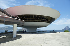 Niteroi Museum Rio de Janeiro Brazil Entrance Stock Image