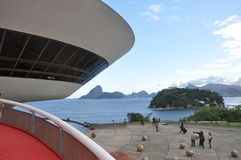 Niteroi - Oscar Niemeyer stock photography