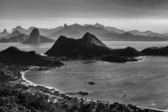 Niteroi - Rio de Janeiro Brazil - Black And White stock photo