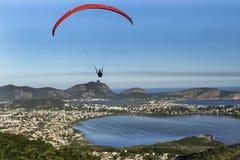 Niteroi - Rio de Janeiro Brazil - Paraglider Flying royalty free stock photos