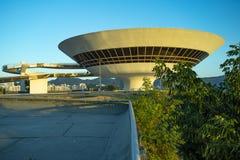 Niteroi stad, Rio de Janeiro tillstånd/Brasilien Sydamerika - 01/27/2019 beskrivning: MAC Niteroi Museum av samtida konst av Ni arkivfoton