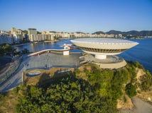 Niteroi stad, Rio de Janeiro tillstånd/Brasilien Sydamerika - 01/27/2019 beskrivning: MAC Niteroi Museum av samtida konst av Ni arkivfoto
