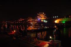 Niteview di town2 cinese Fotografie Stock Libere da Diritti