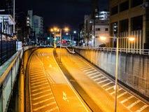 Nitght czas w Osaka Zdjęcie Stock
