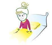 Nitning i säng Arkivfoton