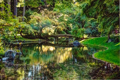 Nitobe Gardens 2. Beautiful Japanese Inspired Gardens In UBC Endowment Lands Stock Image