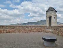 Замок Nitra - взгляд от замка Стоковые Изображения