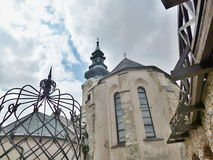 Замок Nitra - внутри замка Стоковое фото RF