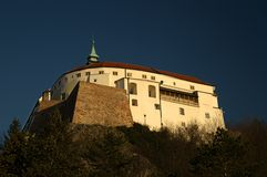 Nitra castle. From park Siho Stock Photography
