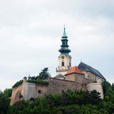 Nitra castle in Slovak republic. Great Moravian Empire Office royalty free stock image