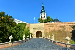 Nitra castle, Slovakia. Stronghold, fortress. The Nitra Castle - Slovakia, located on top of a hill where an old Slavonic fortified settlement once stood. First royalty free stock photos