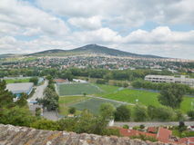 Nitra Castle - view from the castle Royalty Free Stock Photography