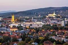Nitra city, Slovakia, evening urban scene Royalty Free Stock Images