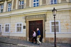 A old heritage building in Nitra, Slovakia. royalty free stock image
