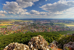 Nitra city from Zobor peak Royalty Free Stock Photo