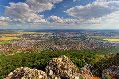 Nitra city from Zobor peak royalty free stock photo