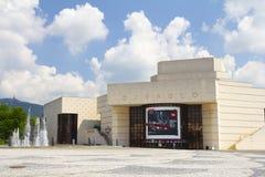 Nitra Sistani, CZERWIEC, - 2018: budynek Andrej Bagar teatr na głównym placu w Nitra mieście w Sistani zdjęcie royalty free