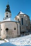 Nitra slott i vinter royaltyfria foton