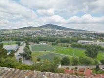 Nitra slott - sikt från slotten royaltyfri fotografi