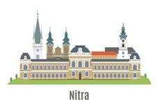 Nitra stad i västra Slovakien Arkivbild