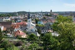 Nitra stad, Slovakien Arkivbild