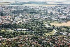 Nitra stad, Slovakien, stads- plats Royaltyfri Fotografi