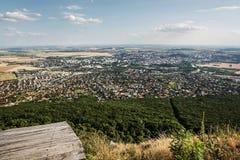 Nitra stad, slovakisk republik, stads- plats Arkivbild