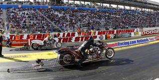 Nitro Harleys bij de Strook van Las Vegas Royalty-vrije Stock Afbeeldingen