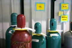 Nitrogen bottles royalty free stock photos