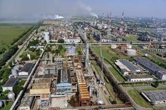 Nitrogen chemical plant in Cherkassy. Ukraine. Panorama of the chemical enterprise Nitrogen in Cherkassy. Ukraine Stock Images