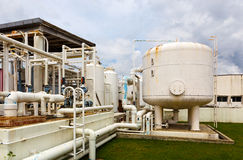 Nitrogen chemical plant Royalty Free Stock Images