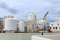 Nitrogen chemical plant Royalty Free Stock Photos