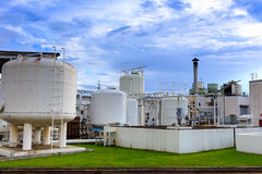 Nitrogen chemical plant for factory Royalty Free Stock Image