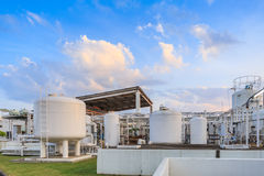 Nitrogen chemical plant for factory. Photo Nitrogen chemical plant for factory stock photo