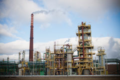 Nitrogen Chemical plant in Poland Stock Images