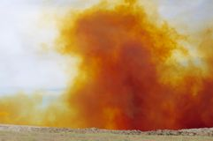 Nitrogen Dioxide cloud after mine blast. Stock Images
