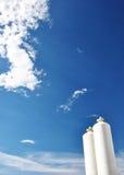 Nitrogen storage tank, Industrial storehouses Royalty Free Stock Photos