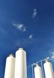 Nitrogen storage tank, Industrial storehouses Stock Photos