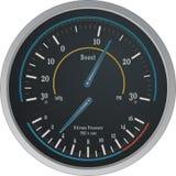 Nitrous Boost Gauge Vector. Vector Illustration of a Nitrous Boost Gauge Stock Photo