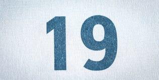 Nitton kalenderdatum fotografering för bildbyråer