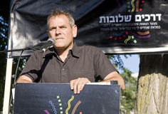 Nitzan Horowitz speaking at Pride Parade Stock Images