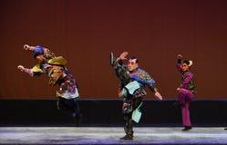 """Niu Tong war Jinbing--Peking opera """"Little Worriors of Yeuh's family"""" Royalty Free Stock Photo"""