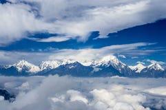 Niubei berg och Minya Konka, Sichuan av Kina royaltyfri fotografi