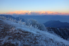 Niubei mountain sunrise Stock Photo