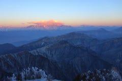Niubei mountain sunrise Stock Images