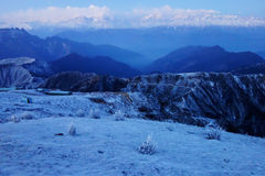 Niubei snow mountain in dawn Royalty Free Stock Images