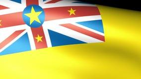 Niue Flag Waving royalty free illustration