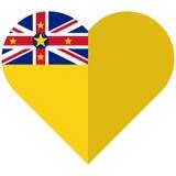 Niue flat heart flag Stock Photos